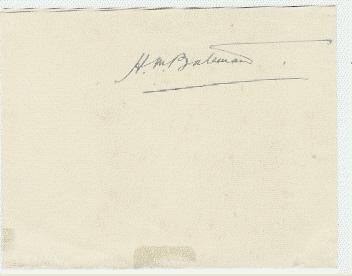 H.M. Bateman autograph