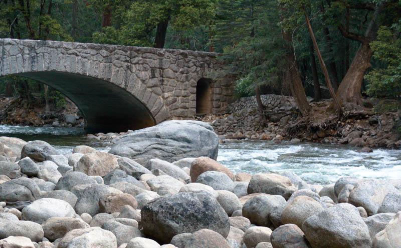 The Happy Isles stone bridge