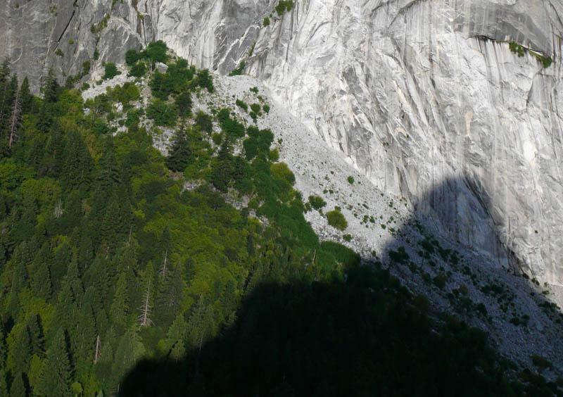 1996 Happy Isles Rockslide view