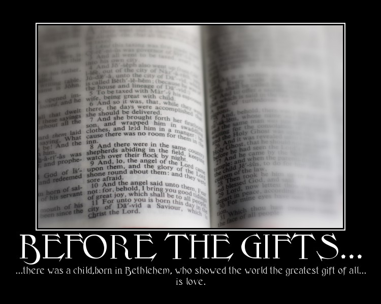 Before the Gifts