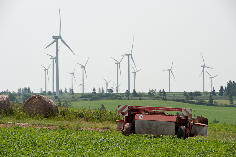 Wind farm. West Cape PEI