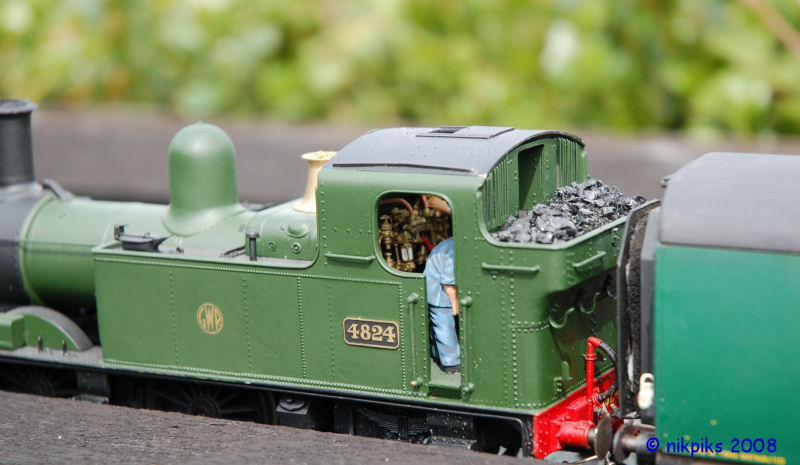 The fireman is busy on this 4XXX class locomotive