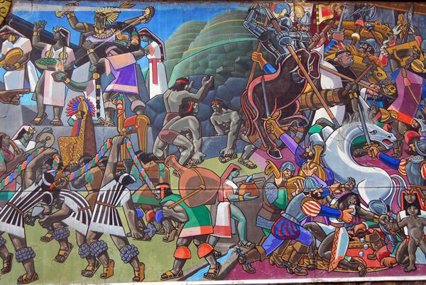 Historical Mural, Av. El Sol, Cusco