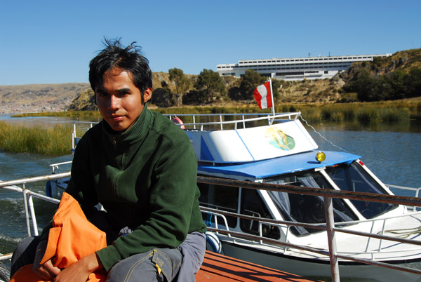 Marcos...just before the other boat bumped us