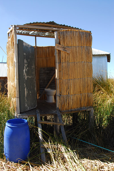 Outhouse dropping directly to the lake
