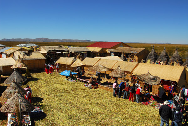 Uros Islands tourist market, Lake Titicaca
