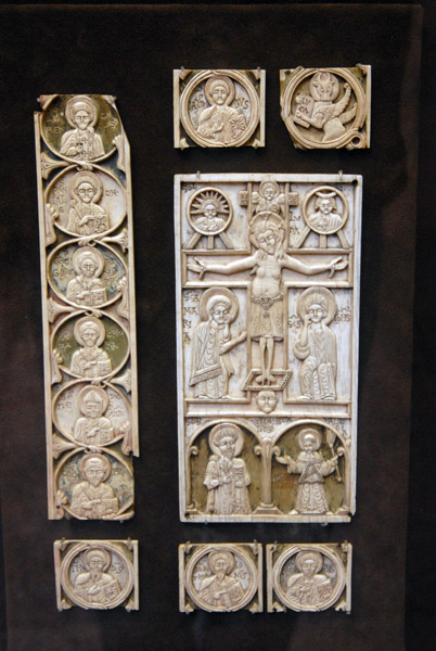Ivory plaques from book binding, Venice 11-12th C