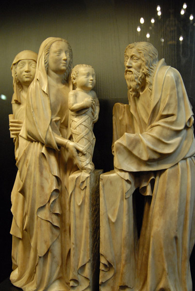 Presentation in the Temple, 14th C. Burgundy marble