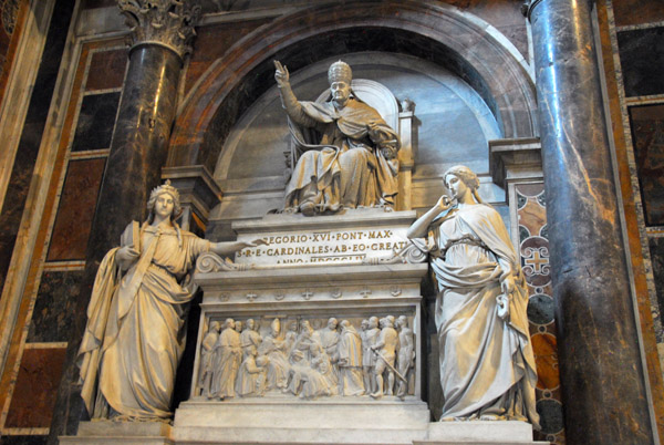 Monument to Pope Gregory XVI (1831-1846) by Luigi Amici, ca 1850