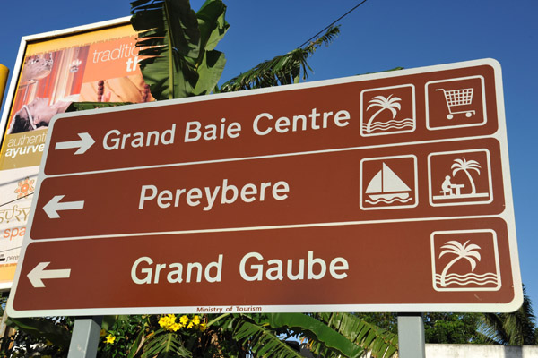 Grand Baie, a popular tourist resort on the north side of Mauritius