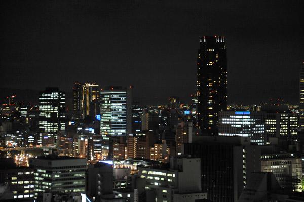 Night view from the Osaka Hilton