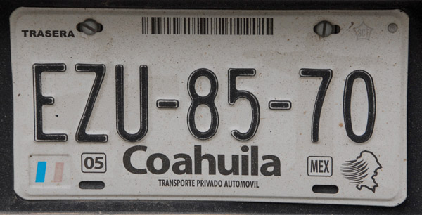 Mexican License Plate - Coahuila