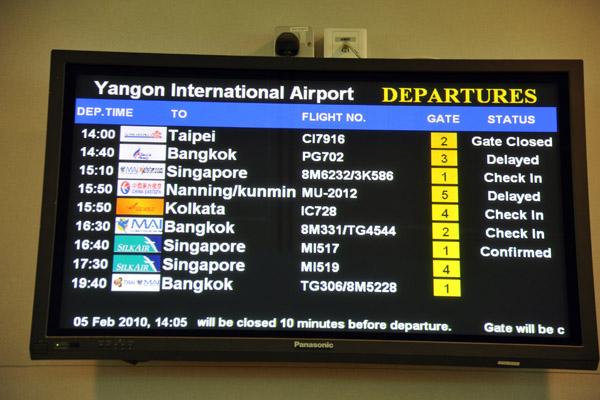Yangon International Airport Departures Tpe Bkk Sin Nng Kmg Ccu Photo Brian Mcmorrow Photos At Pbase Com