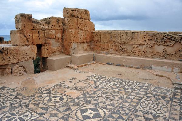 Mosaic floor, Theater Baths, Sabratha
