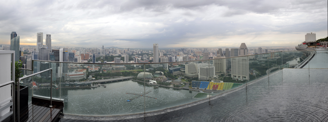 Panoramic view of Singapore from the Sky Garden