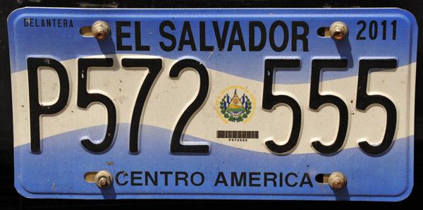 El Salvador License Plate - 2011