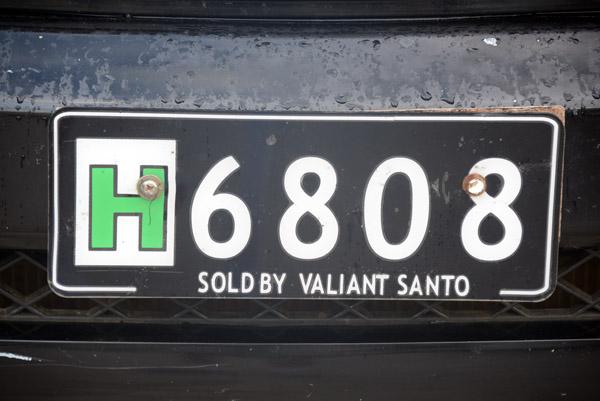 Vanuatu License Plate