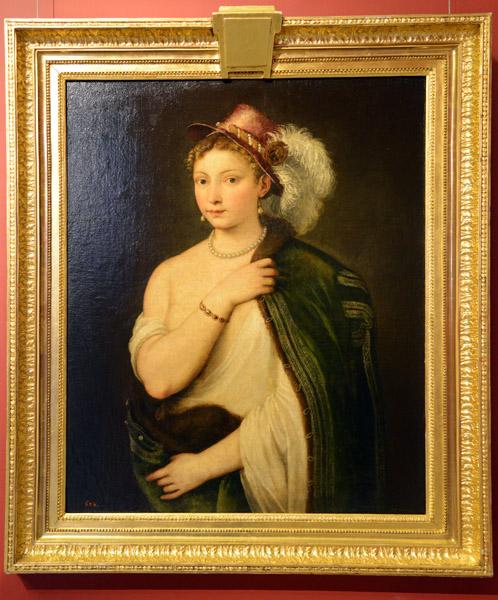 Girl in Furs, Titian (†1576)