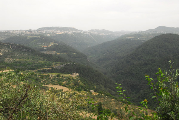 The green Syrian highlands around Salma