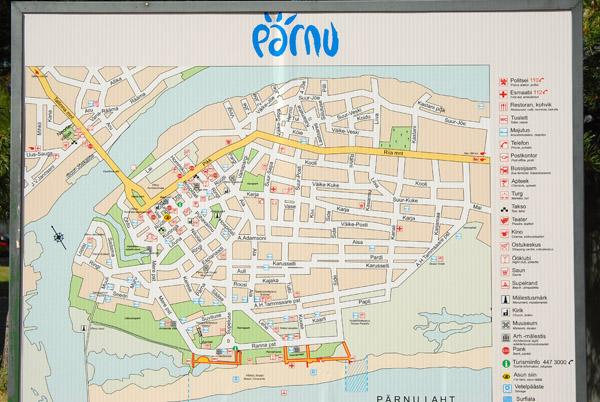 Map of Pärnu, Estonia