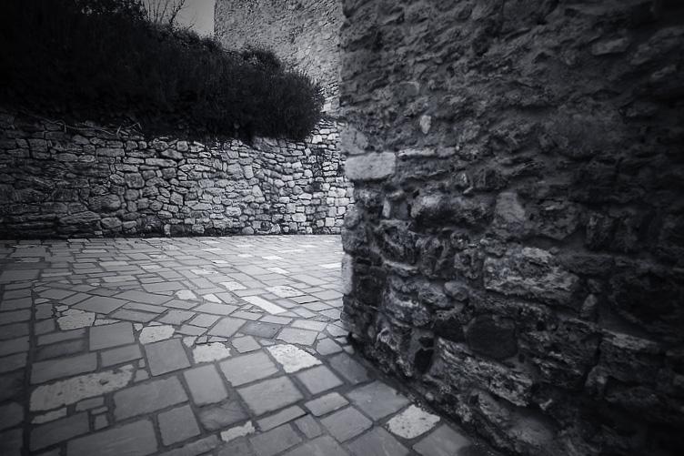 labyrinth in Bagno Vignoni