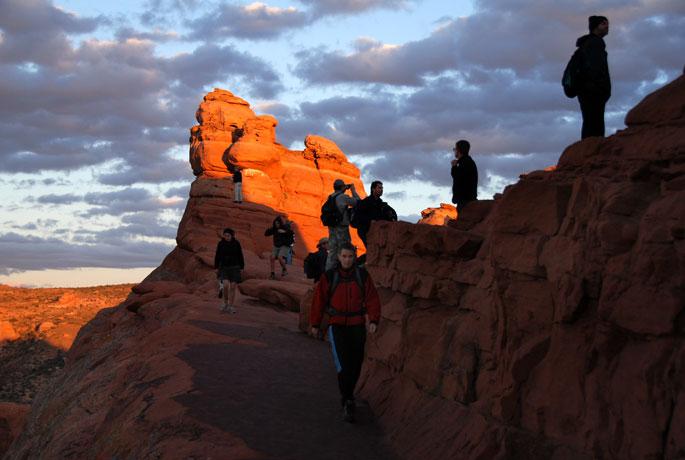 End of the Delicate Arch Trail (arch is to the right)