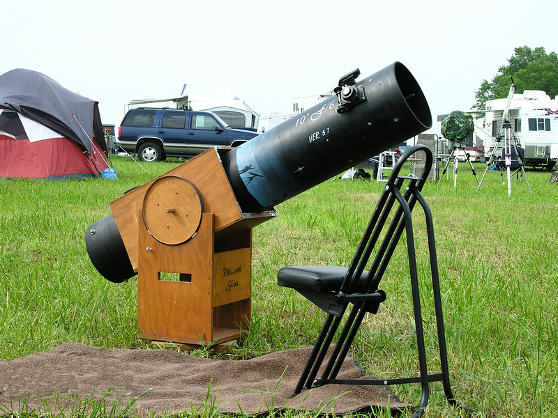 Homemade Dobsonian at Heart of America Star Party