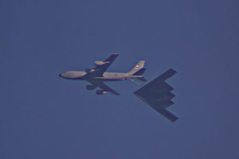 B2 Bomber Refueled by a KC-135 Over Missouri photo - Dan