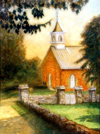 Golden Sunset Oer Historic Dublin Community Church