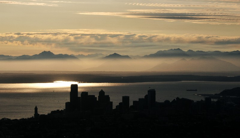 Olympic Mt and Seattle
