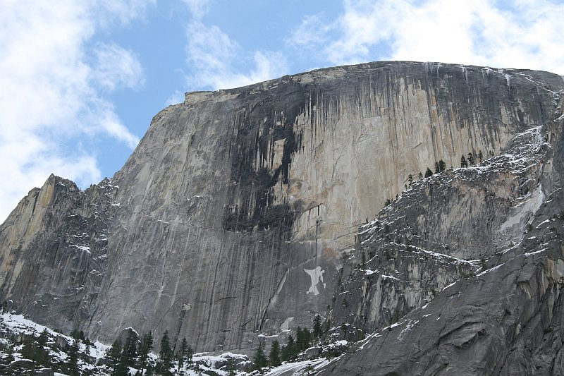 Half Dome from Mirror Lake Trail 2