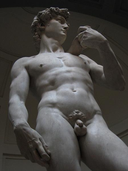 Michelangelos David: amazingly life-like.