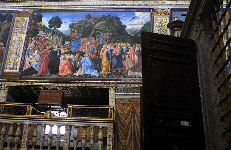 G. Rosellis Sermon on the Mount near back gate
