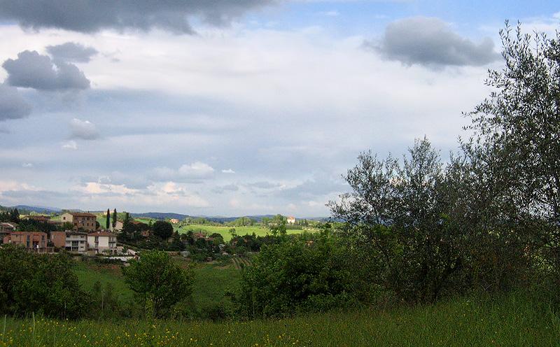 Typical Tuscany light on landscape