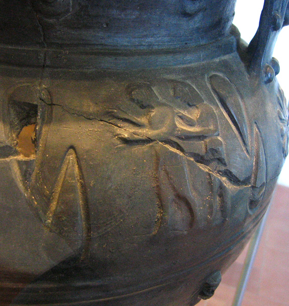 Was interested in social interaction shown on this vase<br>See next image.