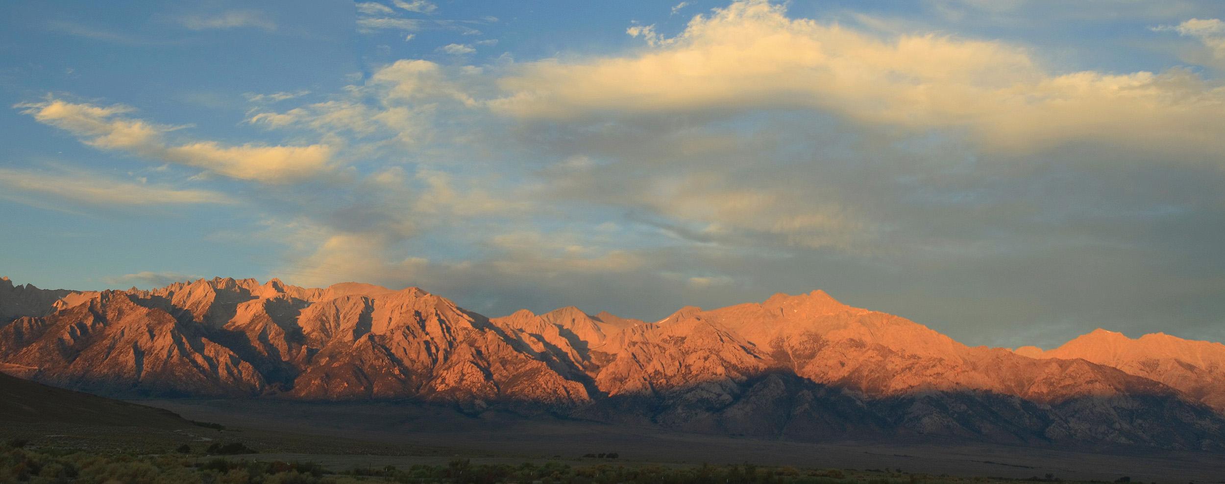 Sierra Nevada Crest in Morning Sunlight