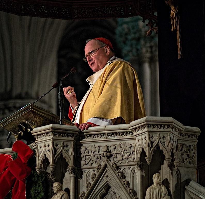 Cardinal Dolan - Midnight Mass 2013 - St. Patricks Cathedral #5