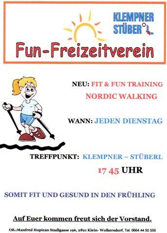 Jeden Dienstag um 17:45: Fit & Fun - Training!