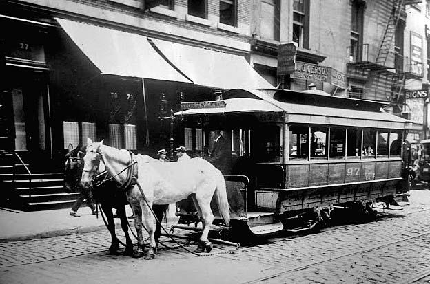 1900 - Horsecar on Bleecker Street