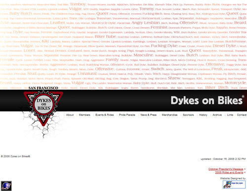 San Francisco Dykes on Bikes®  (2008)