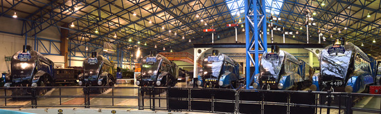 The Great Gathering of all 6 preserved LNER A4 locomotives at York, 20131111