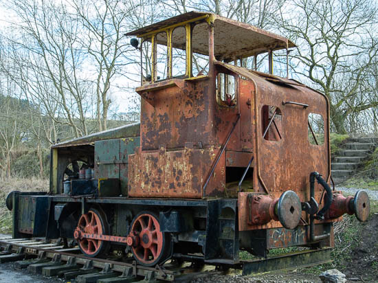The ICI rebuild of former Avonside 0-4-0ST RS8 (works no.1913 of 1923) is displayed at the National Stone Centre, 1/3/14