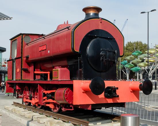 Avonside Engine Co Ltd 0-6-0ST ROBERT (works no.2068 of 1933) 'plinthed' outside Stratford station in East London