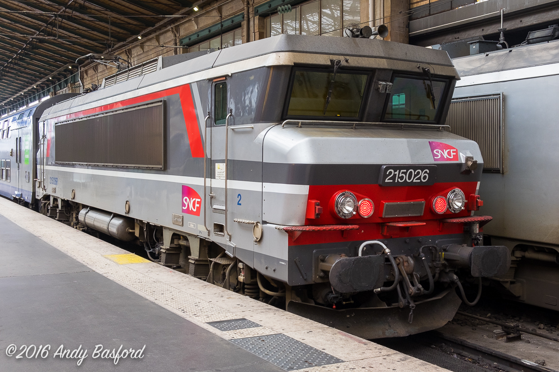SNCF Class BB 150000 215016 at Gare du Nord, Paris, 2/8/16