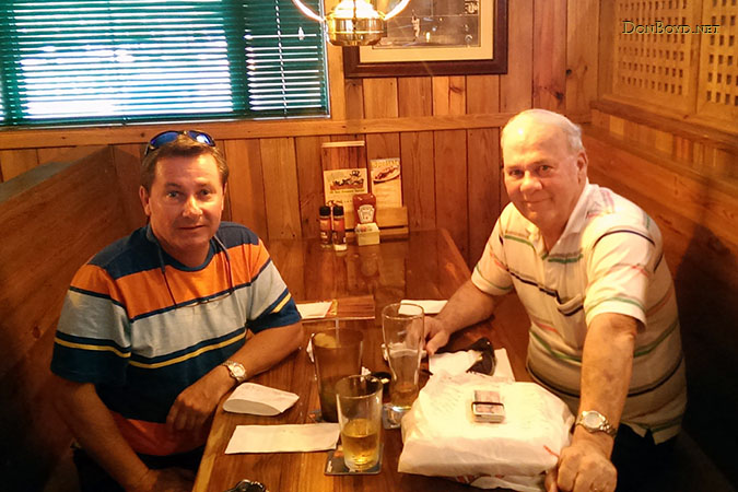 March 2014 - Chet Gay and Don Boyd after lunch and beers at the Miami Lakes Ale House