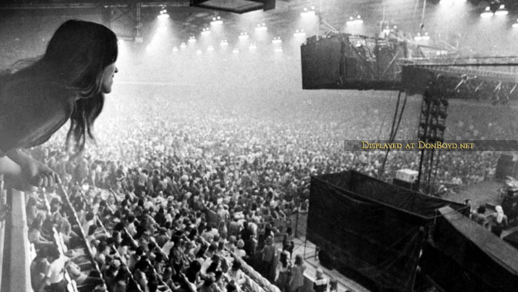 1970s and 80s - the interior of the Hollywood Sportatorium during a concert