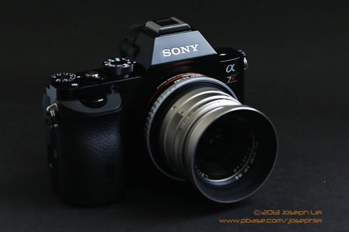 Contax G 28mm f/2.8 <P>Another lens in the collection that does not work well with the A7R.