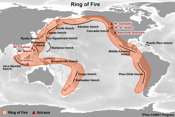 Rim Of Fire Map.The Ring Of Fire Pacific Rim Photo Flying Dutchman Photos At