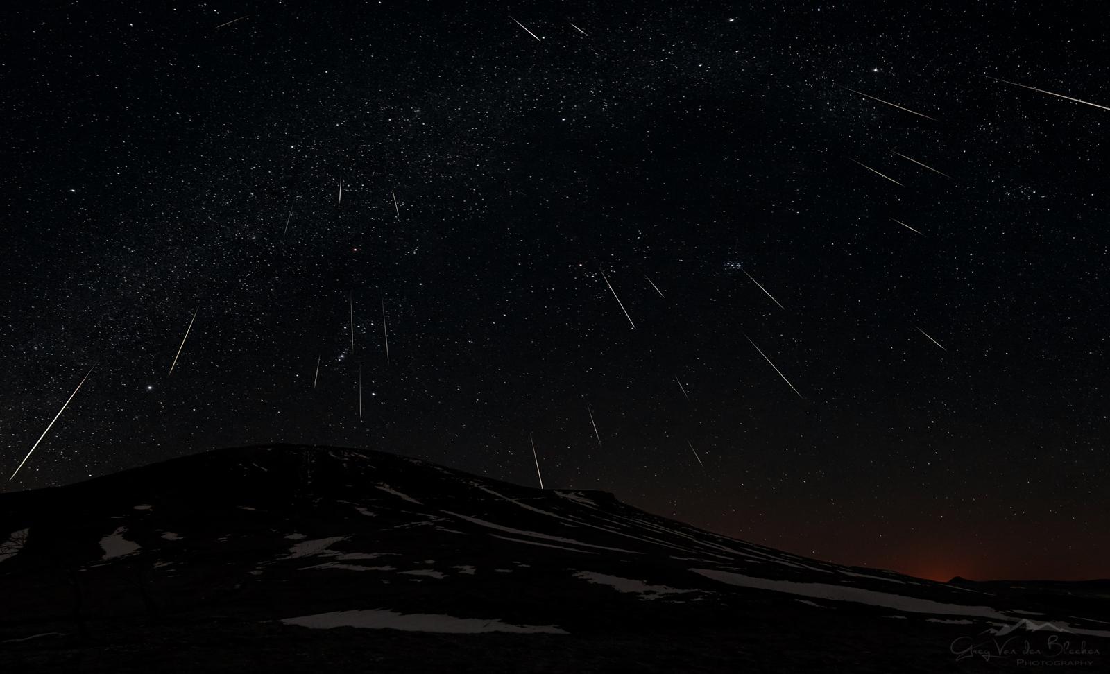 Geminids meteor shower 2015
