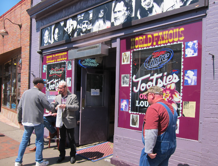 Tootsies Orchid Lounge on Broadway in downtown Nashville, Tennessee - favorite local honky-tonk of many country music performers